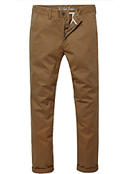 U-Shark Men's  Business Casual  &Fashion Cotton Thin Pants/Tousers Dark Khaki Color