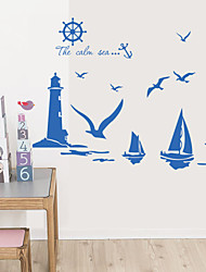 Wall Stickers Wall Decals , Ocean Sailing Sticker PVC Wall Stickers