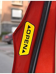 autoadesivo al minuto della portiera dell'auto riflettente parole aperte avvertimento sicurezza auto adesivo styling 2 colori sulla