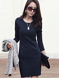 Dymona  Women's Bodycon/Work Long Sleeve Dresses