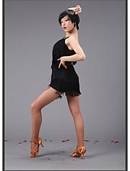 tops ( Preto/Rosa , Algodão mercerizado , Dança Latina/Espetáculo/Samba ) - de Dança Latina/Espetáculo/Samba - Mulheres