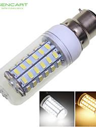 SENCART B22 12 W 56 SMD 5730 1600-1900 LM Тёплый белый/Холодный белый Декоративная Лампа типа Корн AC 220-240/AC 110-130 V