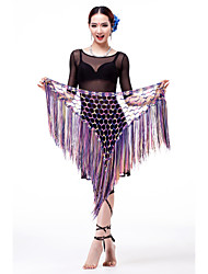 Belly Dance Belt Women's Performance/Training Viscose Sash/Ribbon/Sequins/Tassel(s) (MORE COLOUR)