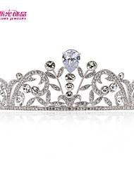 Neoglory Jewelry Clear Austrian Rhinestone Zironina Tiara Crown Hair Accessories for Lady Bridal Wedding Pageant