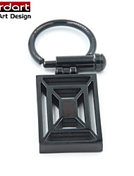 IP Black 316L Stainless Steel Key Clasp with Browm Enamel twist switch for Unisex