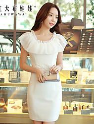 Pink Doll®Women's Round Lace/Party Slim Sleeveless Ruffle Dress