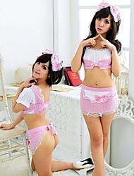 Para Mujer Ropa de dormir - Babydoll y Slip/Uniforme y Cheongsam - Poliéster
