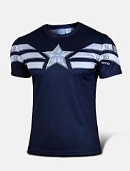 T-shirt ( Bleu Foncé ) deSki/Camping & Randonnée/Taekwondo/Chasse/Pêche/Escalade/Fitness/Courses/Sport de