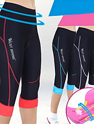 WEST BIKING® Cycling Padded Shorts Women's Breathable / Quick Dry / Compression / 3D Pad / Limits Bacteria Bike3/4 Tights / Shorts /