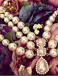 New Arrival Fashional Hot Selling Luxury Rhinestone Water Drop Pearl Necklace