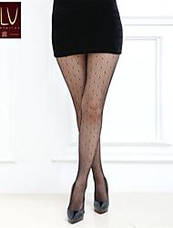 SKLV Women's Mesh/Nylon Thin Cut Out Translucence Pantyhose