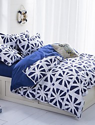 Mingjie Blue and White Sanding Bedding Sets 4pcs Duvet Cover Sets Bed Linen China Queen Size and Full Size