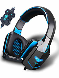 Stereo Soundshock Wired Gaming Headphones or Built-In Mic for iOS/Android Smartphones & Other Multimedia Devices