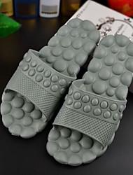 Men's Shoes Casual Flat Heel Comfort Slippers Blue/Gray