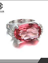 Statement Rings Fashion Zircon Cubic Zirconia Platinum Plated Circle Geometric Jewelry For Party 1pc
