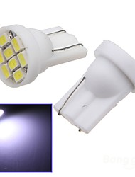 2x Car Ultra White 8-LED 3020 SMD T10 Bulb Wedge Side Light Bulb
