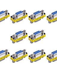9pin vga femininos para vga femininos mini-placas de trocador de gênero (10 pcs)