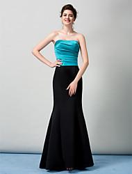 Vestido Corte Sirena - Strapless - Barrer / cepillo tren