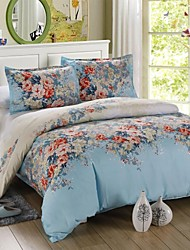 Mingjie Blue Flowers Bedding Sets 4pcs Duvet Cover Sets Bed Linen China Queen Size and Full Size