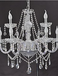 Modern European style luxury K9 crystal glass chandelier