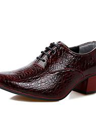 Oxfords ( Cuero , Negro/Blanco/Vino/Azul Oscuro Zapatos de hombre