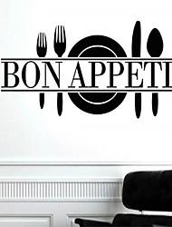 настенные наклейки наклейки для стен, стиль Bon Appetit английских слов&цитирует наклейки ПВХ стены