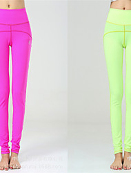 Slim Fitted Yoga Pants With Candy Multi Color