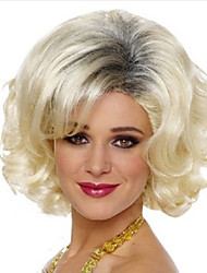 Europe And The United States  Sell Like Hot Cakes pale Gold Gradient Short Curly Wig