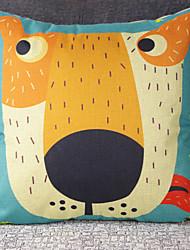 Flax European Children's Cartoon Dog Car Cushion Pillowcases