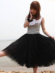 Women's Elegant Mesh Princess Midi Bubble Skirts
