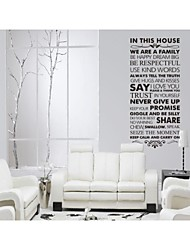 nous sommes une famille paroi de devis décoration de la maison décalque zooyoo8084 décorative sticker mural amovible en vinyle bricolage