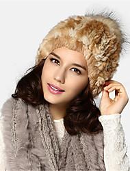 Kenmont Women Lady Autumn Winter 100% Rabbit Hair Cap High-grade Warm Cloche Hat 1458