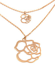 Necklace Pendant Necklaces Jewelry Wedding / Party / Daily / Casual Fashionable Stainless Steel Rose 1pc Gift