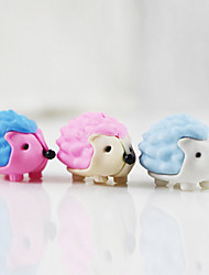 3Pcs Lovely Cartoon Hedgehog erizo DIY Rubber Eraser School Student Children Prizes Gift Promotion Assemble Toy Random Color