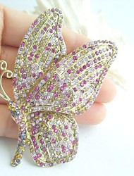Women Accessories Gold-tone Multicolor Rhinestone Crystal Brooch Art Deco Butterfly Brooch Scarf Pin Women Jewelry