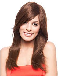 Hot Selling Long Straight Lady Wigs Brown Color Synthetic Hair Wigs