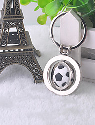 Stainless Steel Rotating Soccer Key Chain Ring Keyring(Random Color)