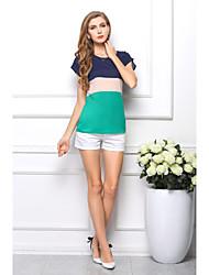 Lady's Elegant Multicolor Cool Batwing Sleeve Loose Chiffon Shirt Tops