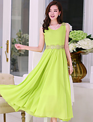 Women's Sexy / Beach / Casual / Cute / Maxi Dress Maxi Chiffon