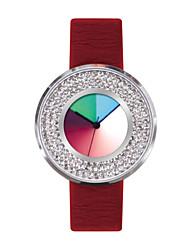 cuero reloj creativo reloj de cuarzo de silicona resistente al agua time2u señoras del arco iris '