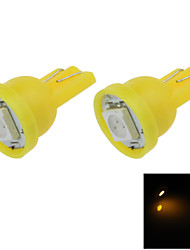 2X  Yellow T10 1 SMD 5050 LED car Clearance Instrument Lamp Roof Light DC 12V A001