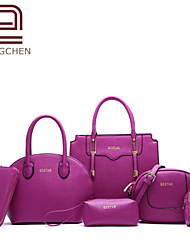 Handcee® The Popular Style Woman 6 Pieces PU Leather Cheap Picture Package