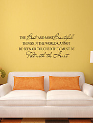 Wall Stickers Wall Decals Style THe Best And Most  Beautiful Things English Words & Quotes PVC Wall Stickers
