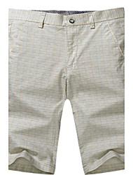 Shorts ( Gelb , Baumwolle ) - für Freizeit - für MEN - Plaid & Karo