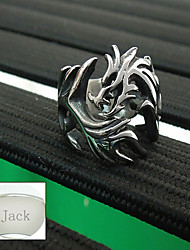 Personalized Father's Day Gift Jewelry Stainless Steel The Dragon Shape Silver Men's Ring