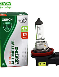 2PCS XENCN H8 12V 35W 3200K Emark Clear Series Standard Halogen UV Quartz Fog Lamp