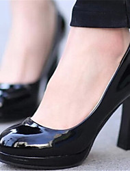 Women's Shoes Chunky Heel Round Toe Pumps/ Dress Black/Pink