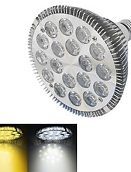 1 stuks E26/E27 18W 18 Krachtige LED 1500-1600 LM Warm wit / Koel wit LED-spotlampen AC 220-240 V