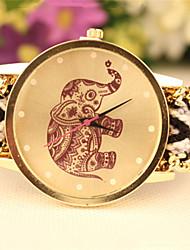 The New Woven Belt  Elephant Fashion Bracelet Watch