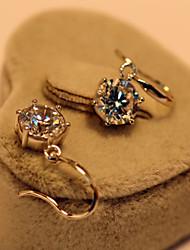 Sterling Silver Engagement Dangle Earrings 6Prongs Jewelry 2CT/Piece SONA Simulate Diamond Earrings for Women Wedding